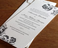 floral letterpress wedding invitation by invitations by ajalon (without floral!)