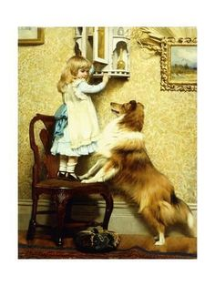 Giclee Print: Little Girl and Her Sheltie, 1892 by Charles Burton Barber : 24x18in