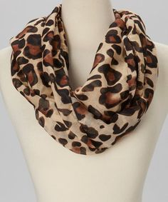 Look at this #zulilyfind! Beige Leopard Infinity Scarf #zulilyfinds