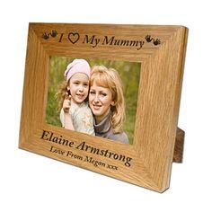 Engraved Oak Mummy Frame
