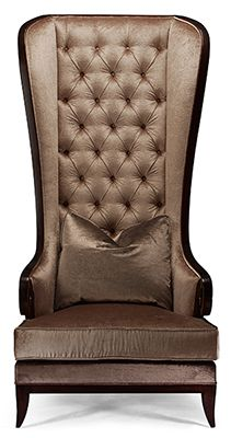 Christopher Guy high-back tufted wing chair Christopher Guy, Wing Chair, Wingback Chair, Armchair, Sofa Design, Interior Design, Luxury Furniture, Cool Furniture, Living Room Chairs