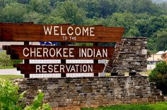Entrance to Cherokee Indian reservation by Sharondelphia, via Flickr