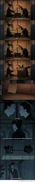 Shikamaru, Shukaku, sad, text, quote, comic, shogi, Asuma death; Naruto