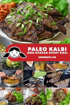 Kalbi (Korean BBQ Short Ribs) - Nom Nom Paleo® - It's grilling season, and mark my words: these thinly-sliced, marinated Korean BBQ short ribs (al - Primal Recipes, Rib Recipes, Whole 30 Recipes, Grilling Recipes, Asian Recipes, Dinner Recipes, Recipies, Kalbi Recipe, Bbq Short Ribs