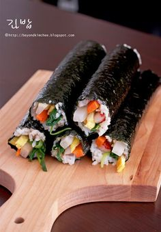 Kimbap. Korean Sushi Rolls. These Are Delicious!!