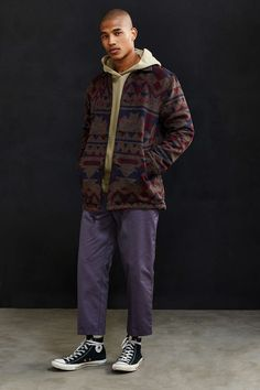 Publish Giles Pattern Coat - Urban Outfitters