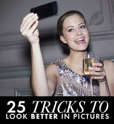 How to Be Photogenic: 25 Tricks That Make You Instantly More Gorgeous in Pictures - Daily Makeover.Queen of Selfies haha Eye Makeup, Makeup Tips, Beauty Makeup, Hair Makeup, Beauty Secrets, Diy Beauty, Beauty Hacks, Photoshop, Selfies