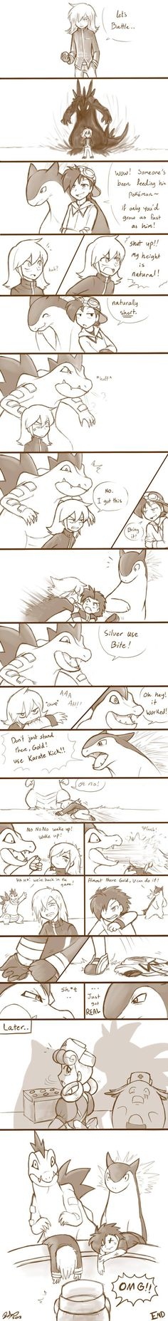 Pokemon - Silver vs Gold. Totally worth the read.