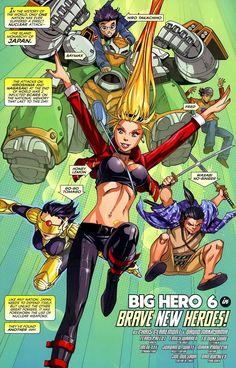 The Marvel Comic Version of Big Hero 6