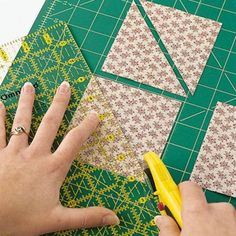 9cac4c1e64 I found a web site that shows how to cut squares in half to make triangles