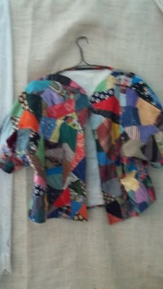 antique crazy quilt and needlepoint coat from the by bayousalvage, $225.00