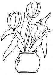 Learn how to draw Tulips with step by strep drawing tutorial for all ages. Spring Coloring Pages, Flower Coloring Pages, Colouring Pages, Coloring Sheets, Coloring Books, Mosaic Patterns, Painting Patterns, Embroidery Patterns, Kids Art Class