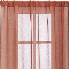 Persimmon sheer curtains from Crate & Barrel