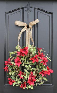 Clematis Vine, Summer Wreath, Pink Clematis, Wreaths for Summer, Summer Wreaths Front Door, Original Handmade Wreaths, Affordable Wreaths via Etsy