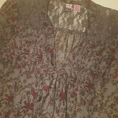Love on a hanger top -Adorable tie neck button down top -Size M -Purchased at Nordstrom b.p. section Excellent condition! love on a hanger Tops Button Down Shirts