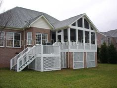 covered/screened deck
