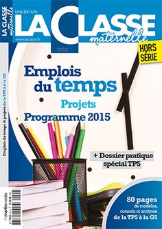 Emplois du temps 2015-2016 TPS-GS Back To School, Cycle 2, Classroom, French, Learning, Jobs In, Kindergarten Classroom, Elementary Schools, Index Cards