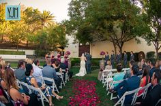 Ceremony at Wente Vineyards | Livermore,CA |  YJM Photography |   Florist - The Flower House