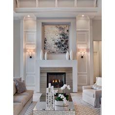 Nice classy fireplace