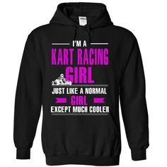 Kart Racing girl is cooler T Shirts, Hoodies. Get it here ==► https://www.sunfrog.com/LifeStyle/Kart-Racing-girl-is-cooler-9691-Black-13426218-Hoodie.html?41382 $39