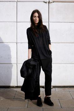 Zara Coat | Zara top | Monki trousers | Puma suedes c/o JD Sports (image:indiarose)