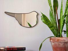 SALE / / / Bird Mirror No 2 / Handmade Wall Mirror by fluxglass, $36.00