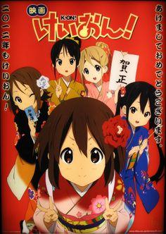 K-on! mio//hirasawa yui//kotobuki tsumugi//nakano azusa//tainaka ritsu K-ON MOVIE! K On Anime, Anime Love, Azusa Nakano, Kyoto Animation, Nichijou, Anime Family, Thing 1, Illustrations, Manga