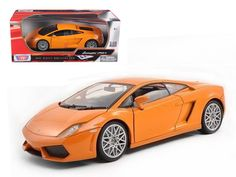 Lamborghini LP 560-4 Orange 1/18 Diecast Car Model by Motormax - Brand new 1:18 scale diecast model ofLamborghini Gallardo LP 560-4 Orange die cast car model by Motormax. Has steerable wheels. Brand new box. Rubber tires. Has opening hood, doors and trunk. Made of diecast with some plastic parts. Detailed interior, exterior, engine compartment. Dimensions approximately L-10.5, W-4, H-3.5 inches. Please note that manufacturer may change packing box at anytime. Product will stay exactly the…