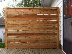 Deck. Knotty Pine Vintage Outdoor Privacy Screen Deck Design Alongside Wooden Floor Deck Material And White Wall Color Paint Include Swing Door With Glass Paneling Material.