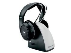 Amazon.com: Sennheiser RS120 Over-Ear 900MHz Wireless RF Headphones with Charging Cradle: Electronics.  Higher rating overall than comparable sets.