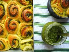 pesto roll-ups: made these to go with Christmas Eve dinner and they were yummy! (Unfortunately discovered that most of my family doesn't like pesto to begin with, so I'll be saving this recipe for just me)