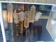 Simple but fun window addition at Heidi Klein, the bikini shop. We pick Portofino!