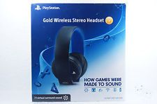 Playstation Gold Wireless Stereo Headset PS3 PS4 PC Gaming Music JET Black 711719100294 | eBay