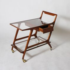 Mid-century maple bar cart, c. 1950   From a unique collection of antique and modern bar carts at https://www.1stdibs.com/furniture/tables/bar-carts/
