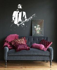 Jeff Buckley Guitar Image Wall Art Vinyl Sticker by atLoudDesigns, £19.99