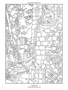 Fairy Tale Coloring Pages and Sheets   Fairy, Adult coloring and ...