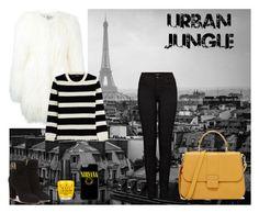 """Urban Jungle"" by rhea33 on Polyvore featuring moda, Philipp Plein, J Brand, The Kooples y Salvatore Ferragamo"
