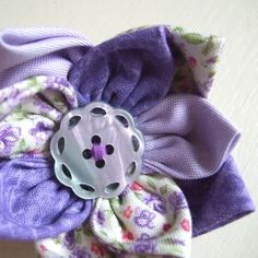 Funky Lilac Flower Corsage £12.00 Lilac Flowers, Fabric Flowers, Flower Corsage, Green Cotton, Purple, Handmade, Beautiful, Dwarf Lilac, Bouquet Of Flowers