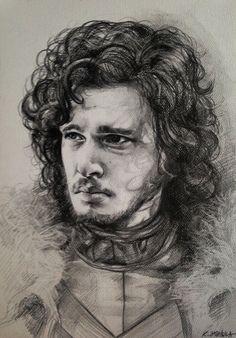 Gra o Tron Portret Jon'a Snow'a Game of Thrones Drawing Jon Snow Portrait (Kit Harington) https://www.youtube.com/watch?v=eClVKQpYiSM