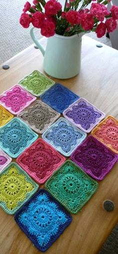 crochet - pretty colours