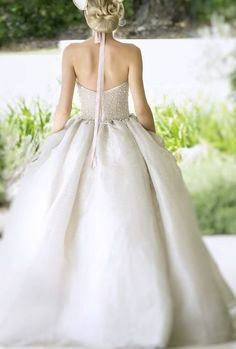 Beautiful sequin embellished ballgown wedding dress; Featured Dress: Darb Bridal Couture