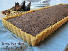 Fig Walnut Tart with Three-Ingredient No-Bake Crust