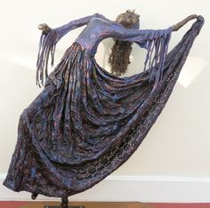 by Sandra June Originals. This is 'Marinda' a handmade fabric sculpture. Now at a new home.