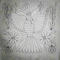 42 Likes, 1 Comments - I Heart Mexico Diy Otomi Embroidery, Mexican Embroidery, Hand Embroidery, Embroidery Transfers, Embroidery Stitches, Embroidery Patterns, Bird Template, Folk Art Flowers, Mexican Art