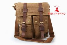 Belstaff Medium Man Canvas Backpack Bag Tan