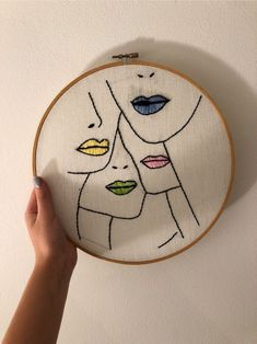AINIA 6 Pieces Embroidery Hoop Set Bamboo Circle Cross Stitch Hoop Ring 5 inch to 10 inch for Embroidery and Cross Stitch Hand Embroidery Videos, Simple Embroidery, Hand Embroidery Stitches, Learn Embroidery, Modern Embroidery, Hand Embroidery Patterns, Embroidery Hoop Art, Cross Stitch Embroidery, Embroidery Fashion