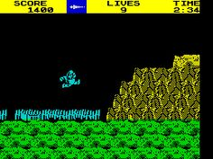 Ghosts 'n Goblins (1986) - Another one that stayed in my mind from the arcades of Clacton, this was a sideways scrolling shooter, with you as a knight lobbing knives, lances and firebombs at all manner of bothersome meanies as you rescue a probably ungrateful princess. A great little game, if frustraing, when some baddies just suddenly rush towards you and there's bugger all you can do about it. Great graphics for its time, and when you get hit, your armour flys off, so you fight in your…