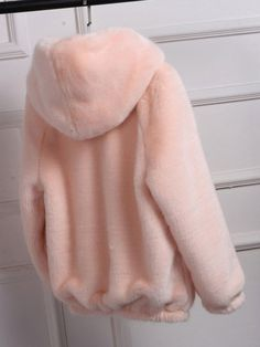 ZHI Elegant Solid Color Faux Fur Zipper Hooded Coats is hot sale on Newchic,here women Coats & Jackets with unbelievable discounts. Girls Fashion Clothes, Winter Fashion Outfits, Girl Fashion, Clothes For Women, Sporty Fashion, Ski Fashion, Fashion Women, Cute Casual Outfits, Stylish Outfits