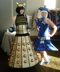 Dalek or Tardis for Halloween 2012? Got to pick soon or my costumes won't be as good as these if I don't start ASAP.