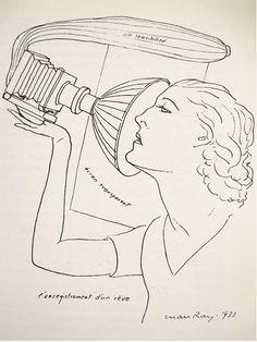 Man Ray – L'enregistrement d'un rêve( Drawing), 1933
